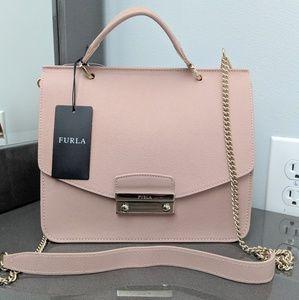 Furla Julie Small top handle leather crossbody bag